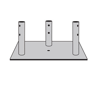 55G Concrete Base Plate for Guyed & Bracketed Towers